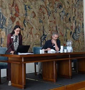 Federica Missere Fontana followed the traces of rare 2nd century coins in the correspondence of various antiquarians. The session was chaired by Martin Mulsow. Photo: UK.