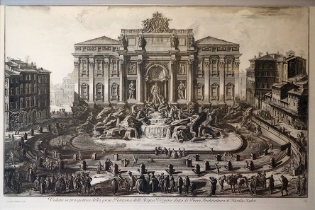 Giovanni Battista Piranesi (1720-1778), Ansicht des Trevi-Brunnen in Rom.