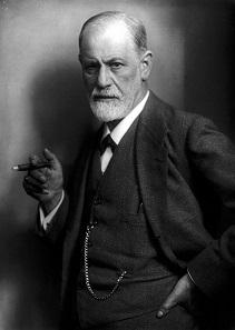 Sigmund Freud in einer Fotografie von Max Halberstadt aus dem Jahr 1921.