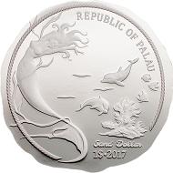 Palau / 1 Dollar / Silber .999 / 1 Unze / 50 mm / Auflage: 2017.
