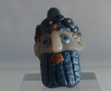 Phoenician glass bead. Photo: KW.
