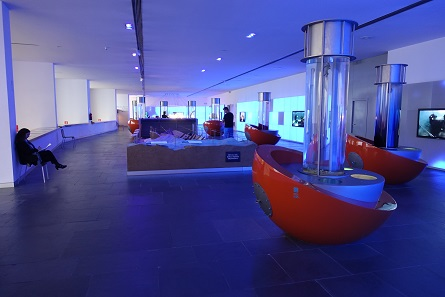 A look into the part of the exhibition which explains the methods of underwater archaeology. Photo: KW.
