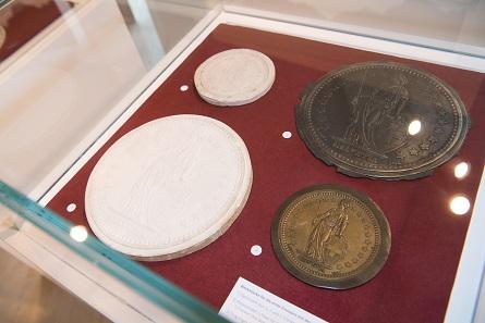 Die Ausstellung zeigte die Entstehung des Schweizer Frankens anhand von originalen Modellen.