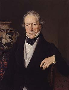William Martin Leake, Ölgemälde von Christian Albrecht Jensen. Quelle: Wikipedia.