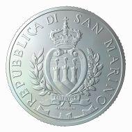 San Marino / 5 euros / .925 silver / 18g / 32mm / Design: Antonella Napolione (obverse), Erik Spiekermann (reverse) / Mintage: 3,400.