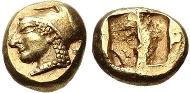 Lot 217: Ionia, Phokaia. EL Hekte-Sixth Stater, circa 521-478 BC. Good VF. Estimate: 500 USD.