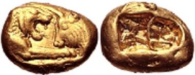 Lot 252: Kings of Lydia. Kroisos. AV Stater, circa 564/53-550/39 BC. Good VF. Estimate: 15,000 USD.