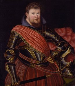 Christian II, Elector of Saxony (1583-1611). Painting by Zacharias Wehme at the Staatliche Kunstsammlungen Dresden.