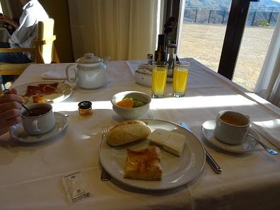 Frühstück im Parador. Foto: KW.