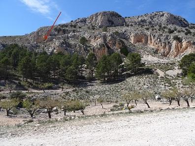 Blick auf die Cueva de los Letreros. Foto: KW.