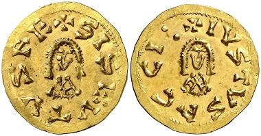Westgoten. Sisebut (612-621). Acci (= Guadix). Triens. Aus Auktion Aureo & Calico 271 (2015), 2242.