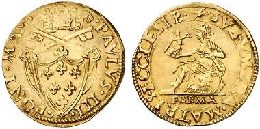 Paul III (1534-1549). Scudo d'oro, Parma. From Künker sale 207 (2012), 6222.