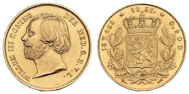 Los 1826: Niederlande, Wilhelm II. 1840-1849. 5 Gulden, 1843. Utrecht, Druckstelle. Ausruf: 3.000 Euro.