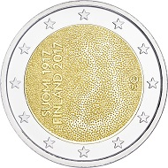 The national side of Finland's new commemorative coin.