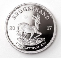 One of the newcomers among the different Krugerrands: the 1-ounce edition in platinum.