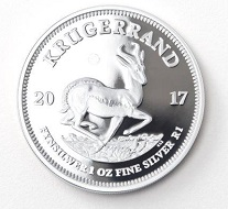 Also new: the 1-ounce Krugerrand in silver.