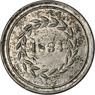 Lot 9024: Maryland-Baltimore. 1834 H. Herring. HT-139, Low-173. Rarity-9. White Metal. Plain Edge. 35 mm. VF-20. Realized: $16,450.