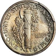 Lot 10287: 1916-D Mercury Dime. MS-65+ FB (PCGS). CAC. Realized: $58,750.
