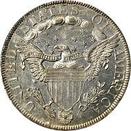 Lot 11143: 1801 Draped Bust Half Dollar. O-101, T-2. Rarity-3. MS-60 (PCGS). Secure Holder. Realized: $70,500.