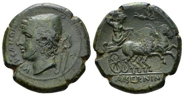 Lot 1: Samnium, Isernia. Bronze, circa 263-240. Good Very Fine. Ex NAC sale 64, 2012, 1982. From the Giancarlo Silingardi collection. Starting bid: £180.