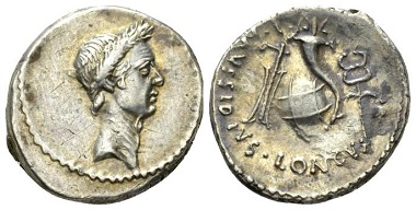 Lot 400: Julius Caesar and L. Mussidius Longus. Denarius, circa 42. About Extremely Fine/Extremely Fine. Starting bid: £700.