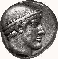 AINOS. Tetradrachmon, 460-440. Kopf des Hermes mit nietenbesetztem Petasos n. r. Rv. AINI Ziegenbock n. r. stehend, vor ihm Amphora; alles in Quadratum incusum. 16,30 g. May 41, 32 (Av. stgl.).