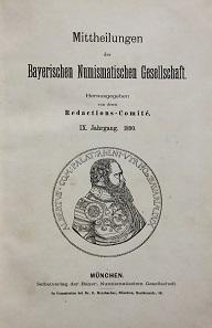 Los 231: Mitteilungen der bayerischen numismatischen Gesellschaft.