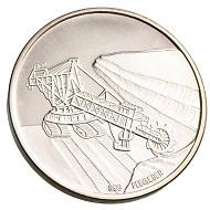 Ein vollständiger Satz Medaillen zum Thema Braunkohleabbau von der Firma Mitteldeutsche Braunkohle AG (MIBRAG) aus den 1990er Jahren ging ebenfalls an die UB Leipzig. Hier eine der fünf Silbermedaillen mit gemeinsamer Rückseite.