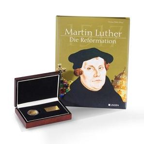 """Degussa Jubiläumsthaler """"500 Jahre Reformation"""" im Etui."""