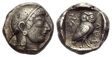 Los 47: Athen. Tetradrachme, ca. 500-480 v. Chr.
