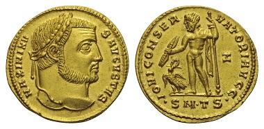 Los 275: Maximinus II. Daia (310-313 n. Chr.). Aureus.