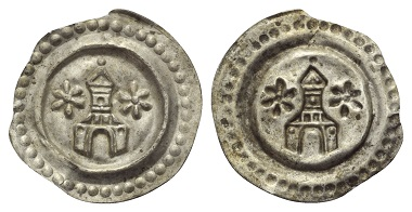 Lot 335: Ravensburg - Imperial mint. Bracteate without year (around 1265).