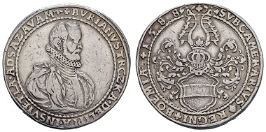 Los 868: Österreich, Neufürsten, Trczka, Burian von Lippa, 1540-1591. Doppeltaler 1588. ss/ss-vz. Ausruf: 2.500 Euro, Zuschlag: 23.000 Euro.