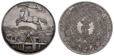 Los 152: Deutschland, Braunschweig-Lüneburg, Johann Friedrich, 1665-1679. Löser zu 6 (5 1/2) Talern 1677. Ausruf: 7.500 Euro, Zuschlag: 11.000 Euro.