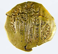 Gold hyperpyron, John V, 1341-47. From the Peter Donald Collection. Photo: Princeton University Numismatic Collection, Department of Rare Books and Special Collections, Princeton University Library.