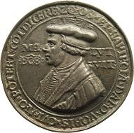 Hieronymus Magdeburger, Medaille mit dem Bildnis Martin Luthers, 1533, Silber, gegossen. Münzkabinett, © SKD. Foto: Martina Vogel.