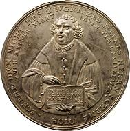 Sebastian Dadler, Medaille auf die erste Jahrhundertfeier der Augsburger Konfession, 1630, Dm 54,2 mm, Silber. Münzkabinett, © SKD. Foto: Nora Henneck.