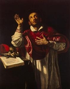 Der heilige Karl Borromäus. Gemälde von Orazio Borgianni. Zwischen 1610 und 1616. Quelle: Wikipedia.