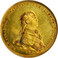 Russia. Coronation of Paul I Gold Medal, ND (1797). PCGS Genuine--Filed Rims, Unc Details Secure Holder.