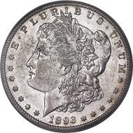 1893-S Morgan Dollar, AU55 PCGS. Realized price: 38,796 USD.