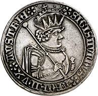 293 / Nr. 1524: RDR / Erzherzog Sigismund der Münzreiche, 1446-1496. Dicktaler von den Stempeln des 1/2 Guldiners, 1484, Hall. Aus Slg. Terletzki. Äußerst selten. Sehr schön bis vorzüglich. Taxe: 10.000,- Euro. Zuschlag: 40.000 Euro.
