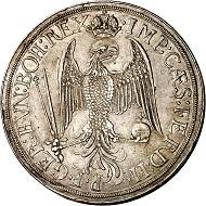 293 / Nr. 103: Augsburg. Dreifacher Reichstaler 1626. Äußerst selten. Sehr schön bis vorzüglich. Taxe: 7.500,- Euro. Zuschlag: 17.000,- Euro.