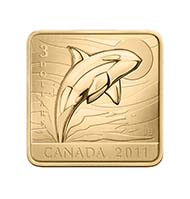 Canada - $3 - Sterling silver gold plated- Wildlife Conservations Series #3, Orca Whale (Designer: Jason Bouwman) - Mintage: 15.000.