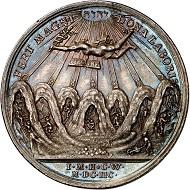 293 / Nr. 1214: Sachsen. Friedrich August I., 1694-1733. Silbermedaille 1698 von C. Wermuth auf Abraham von Schönberg. Aus Slg. Horn. Sehr selten. Vorzüglich. Taxe: 400,- Euro. Zuschlag: 6.000,- Euro.