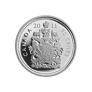 Canada - 50c - Canadian Coat of Arms (Designer: Christie Paquet) - Mintage: 7.000 rolls of 25 coins each.