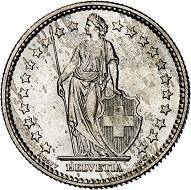293 / Lot 2265: Switzerland. Confederacy. 2 francs 1901, Bern. Very rare. Almost FDC. Estimate: 4,000,- euros. Hammer price: 14,000,- euros.