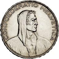 293 / Lot 2272: Switzerland. Confederacy. 5 francs 1928, Bern. Very rare. Almost FDC. Estimate: 7,500,- euros. Hammer price: 13,000,- euros.