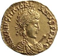Such a solidus of Marjorian is the youngest coin found in the Lienden hoard. Photo: De Nederlandsche Bank.