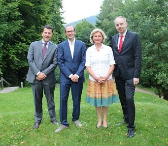 Der VdDM-Vorstand (v.l.n.r. Christoph Raab, Ulrich Künker, Susanne Benz & Jan Tietjen).