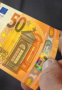 The new 50 euros bill of the ECB.